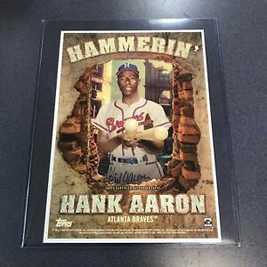 2020 Topps Archives Auto Autograph HANK AARON Poster 7 x 10 Atlanta Braves