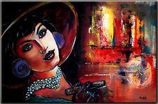 BURGSTALLER ORIGINAL Gemälde Bilder Kunst Malerei Frau Painting FIRE