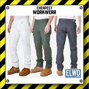 ELWD   Elwood Workwear   MENS UTILITY WORK PANTS (Char Army White Painter EWD101