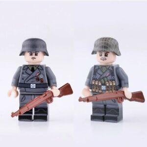 ⭐Lego WW2 Bataille de Normandie Lot de 2 Soldats Allemands Militaire Armée ⭐