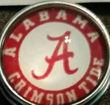 Univ of Alabama,(Crimson Tide,Roll Tide) style # 2  18 mm snap button USA Seller