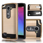 Matte Brushed Armor Hybrid Dual Layer Protective Cover Hard Case For LG Phones