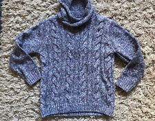 Boys Blue Jumper - Cable Knit - Chunky Knit Jumper - M&Co- 5-6 Years