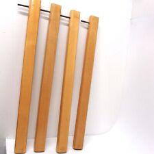 Tischbeine 4er Set Holz braun Buche massiv natur Tischfuß 70 cm Möbelbeine