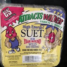 C&S High Energy Treat Suet for Year Round Wild Bird Feeding 11.75 Oz