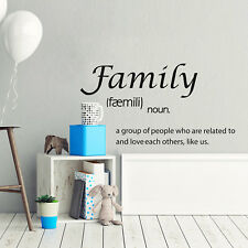Family faemili Quote Wall Stickers Art Home Decoration House Kitchen Quote Decal