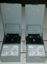 (2) MIDWEST ELECTRIC 60 AMPS 240VAC AC DISCONNECT SWITCH U065F1 BOX HP 10