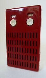 RARE MADE IN  ENGLAND 1960's  FIDELITY  CORONET  6 TRANSISTOR POCKET RADIO