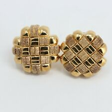Veronese 18K Clad Gold Over 925 Sterling Silver Clip-On Earrings