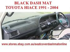 DASH MAT, BLACK DASHMAT, DASHBOARD COVER FIT TOYOTA HIACE 1991 - 2004, BLACK
