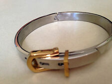 buckle bangle gold and silver tone lovely lucky bracelet