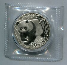 China 2001 1oz Silver Panda Coin Without D Mark