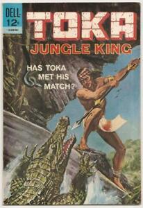 TOKA (Jungle King) no. 2 Dell Jan. 1965 VF+ File Copy Painted Cover Crocodile