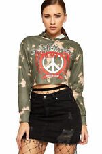 T-shirt, maglie e camicie da donna a manica lunga grafici in poliestere