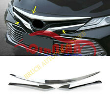 3x Chrome Front Bumper Hood Upper Grill Trim j For Toyota Camry L LE XLE 18-2020