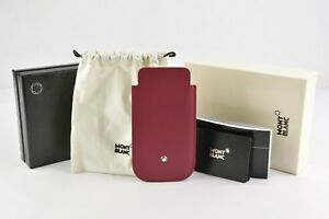 BRAND NEW MONTBLANC BRICKSTONE RED LEATHER CASE HOLDER POUCH IPHONE 5 5SE 109628