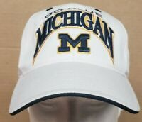 Michigan Wolverines White Snapback Hat Cap Top of the world TOW adjustable