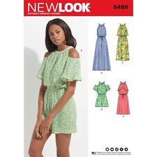 NEW Look Sewing Pattern MISSES's Tuta Romper & Abito Taglia 8 - 18 6489