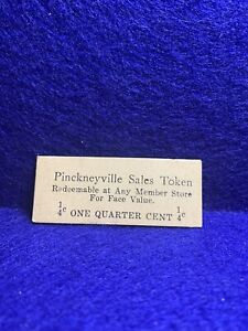 Pinckeyville, Illinois.. Pinckeyville Sales Tax Token 1-4c 25x60mm