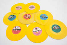 Lot of 8 Children's Records Golden Record ALL Yellow (G4R)Disney 10 Indians