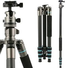 Pro Portable heavy Duty Carbon Fiber Tripod Monopod Ball Head for DSLR Camera