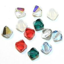 SCB6507 Christmas Mix Red Green Silver 8mm Bicone Swarovski Crystal Beads 12pc
