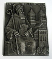 Buderus Kunstguss Plakette Walter Schubert 1984 Benedictus Benedikt von Nursia