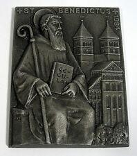 Buderus arte fundición plaquita walter schubert 1984 Benedictus Benedicto de Nursia