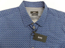 NWT $145 Hugo Boss Slim Fit Blue Shirt Mens XL Ronny 50290207 402