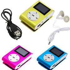 USB Clip MP3 Player LCD Screen Support 32GB Micro SD TF Card + Earphone
