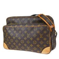Auth LOUIS VUITTON Nile GM Shoulder Bag Monogram Leather Brown M45242 83MG274