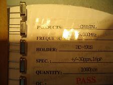 100x Quarz 5MHz +-30ppm 16pF HC-49US Schwingquarz 5,000MHz