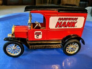 ERTL 1/25 Scale Diecast 1917 Model T Van Bank Coin Ford Hardware Hank With Key