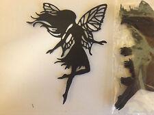 Embellishment Die Cut Fairies with Flowing Hair Black Card Qty. 10