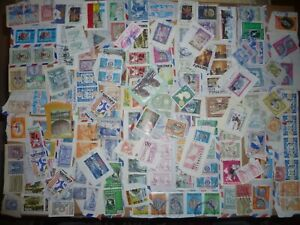40 grams mixtures Guatemala stamps on single paper kiloware