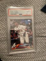 2018 TOPPS OZZIE ALBIES WHITE JERSEY ROOKIE #276 PSA 10 GEM MINT BRAVES RC