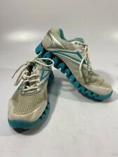 Women's REEBOK SZ 7.5 ZIGTECH ZIG ZAG Turquoise SNEAKERS SHOES RUNNING TENNIS