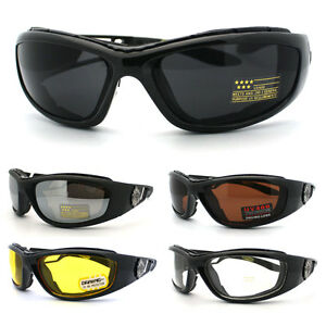 Choppers Cycling Biker Sunglasses Motorcycle Padded Goggle with Color Lens