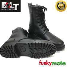 BOLT R50 COMBAT LACES UP BOOTS WATERPROOF MOTORBIKE ARMY TREKKER SHOES CLEARANCE