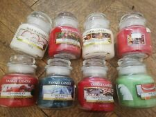 Yankee Candle BRAND NEW 8x Small Jar Candles WINTER FRAGRANCES