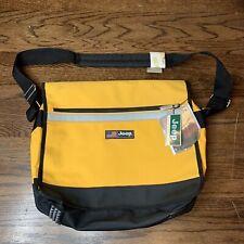 VTG Jeep Car Adjustable Messenger Bag Laptop YELLOW BLACK