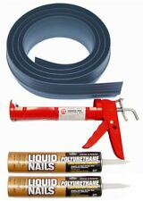 Garage Door Threshold Kit Tsunami Seal Bottom Weather Stripping Strip Floor Gray
