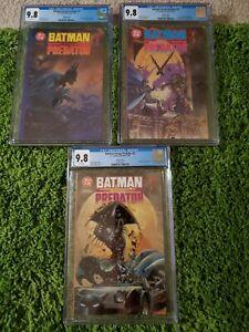 Batman Versus Predator #1,2,3 Set Dark Horse/D.C. 1991 CGC 9.8 Prestige Format