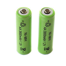 2 x 3800mAh 1.2V Rechargeable Ni-MH AA Batteries for DEL Light Camera Toy etc