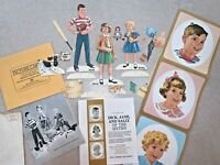 Vintage 1962 Dick, Jane, & Sally Cutouts & Cards, Set for the New Basic Readers