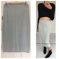 Fitted High Waisted Light Blue Midi Skirt By Australian Fashion Brand Bul Sz M