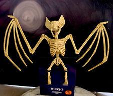 "Halloween Skeleton Large Wing Bat Plastic Halloween Decor Dead Bones 11.5"" New"