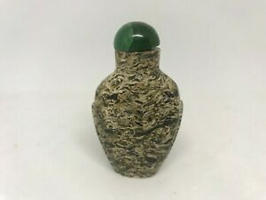 Antique Chinese Puddingstone Snuff Bottle Circa. Early 19th C.
