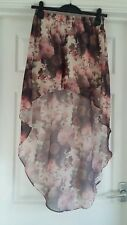 EXCELLENT CONDITION DIVIDED AT H&M PINK FLORAL PRINT SKIRT SIZE 8