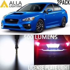 Alla Lighting License Plate Light 194 White LED Tag Bulbs Lamps for Subaru WRX